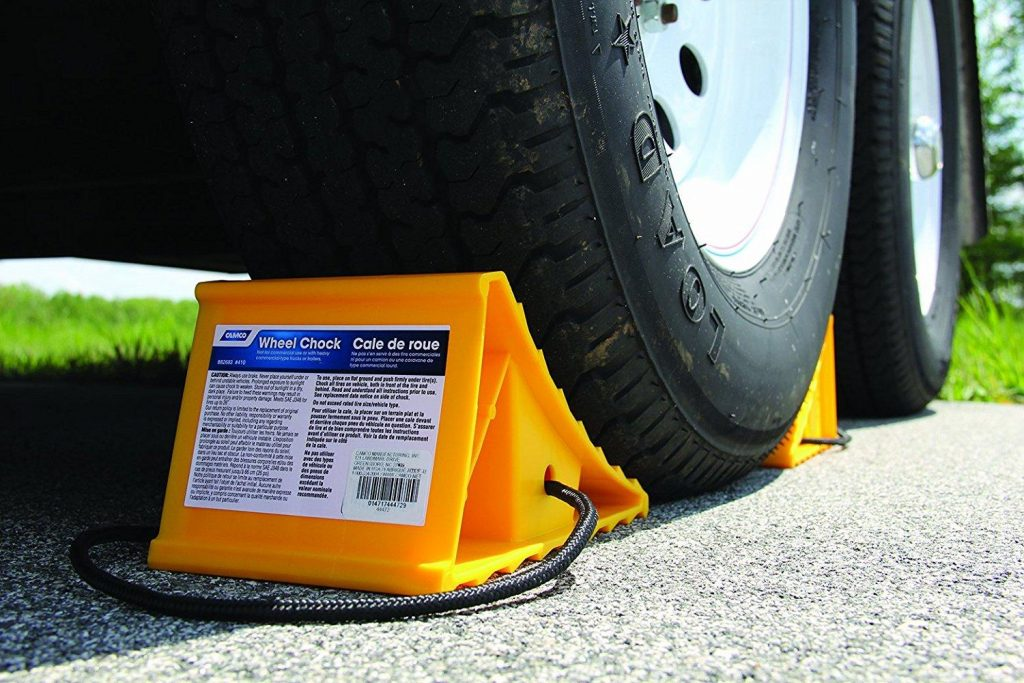 RV accessories parking chocks
