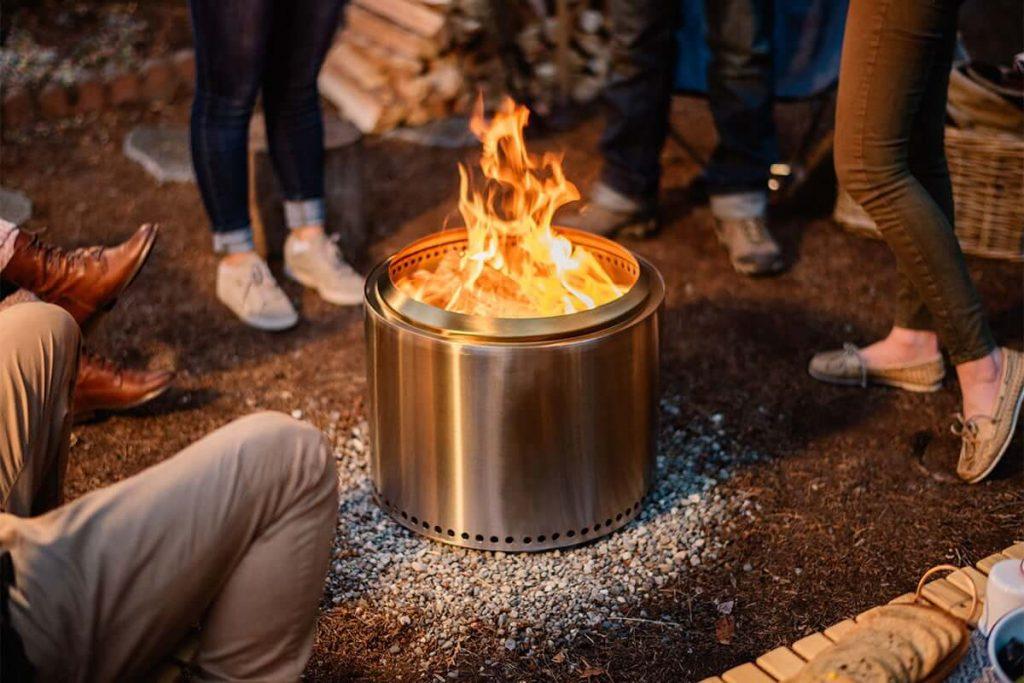 RV propane campfire pit