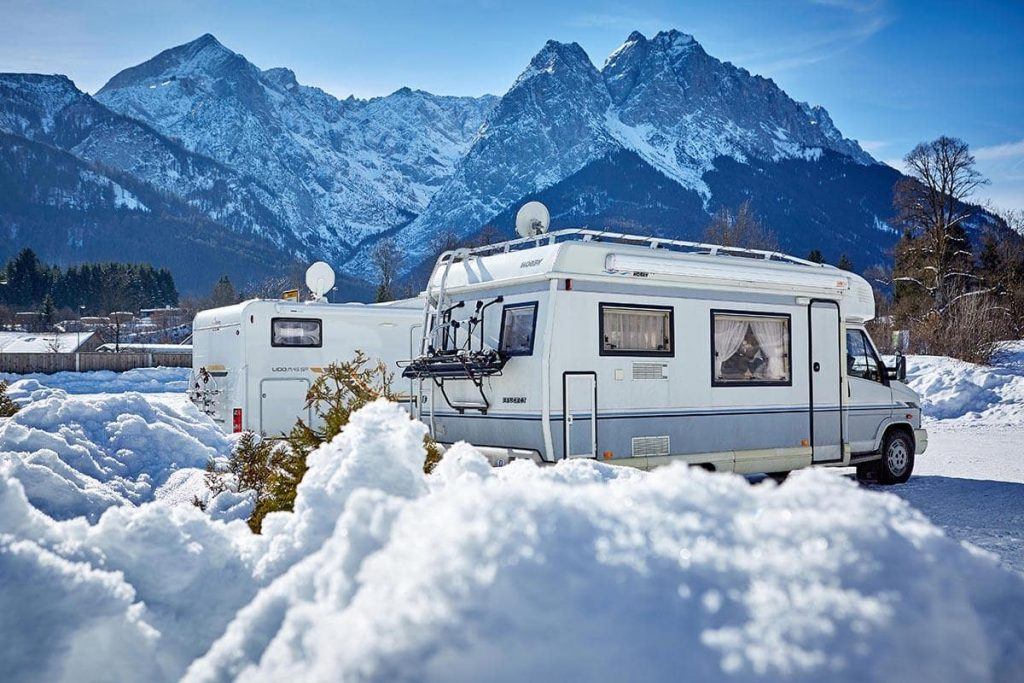 how to heat an RV in winter