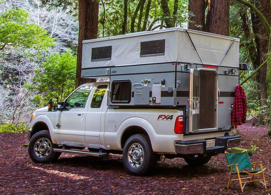 Hawk pop up camper half-ton pick-up trucks