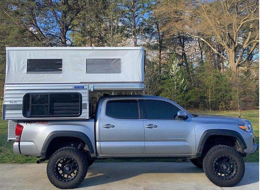 Swift pop up truck camper