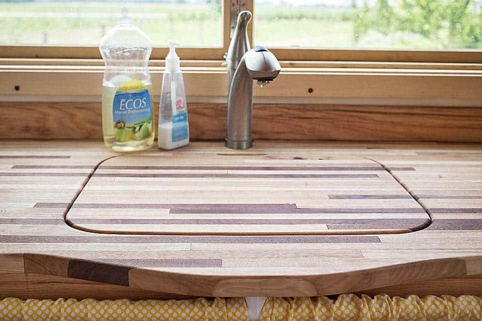 RV kitchen hacks sink cover