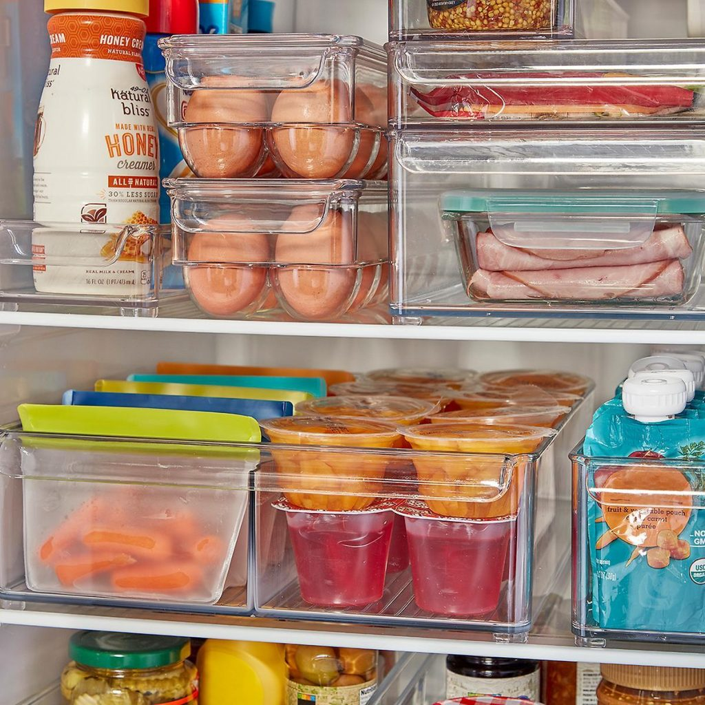 rv fridge organizer bins