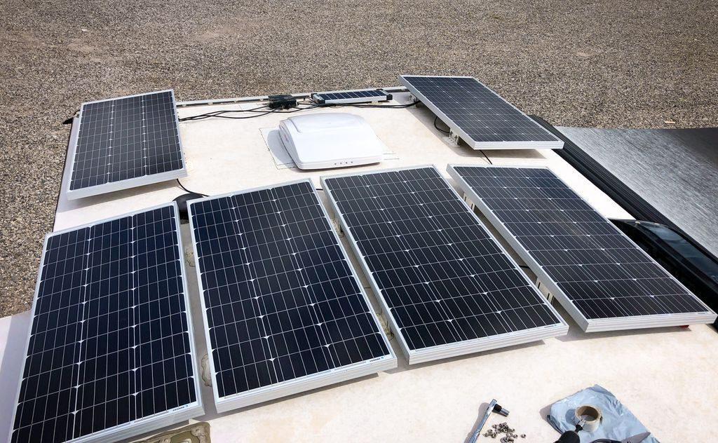 RV hacks solar panels