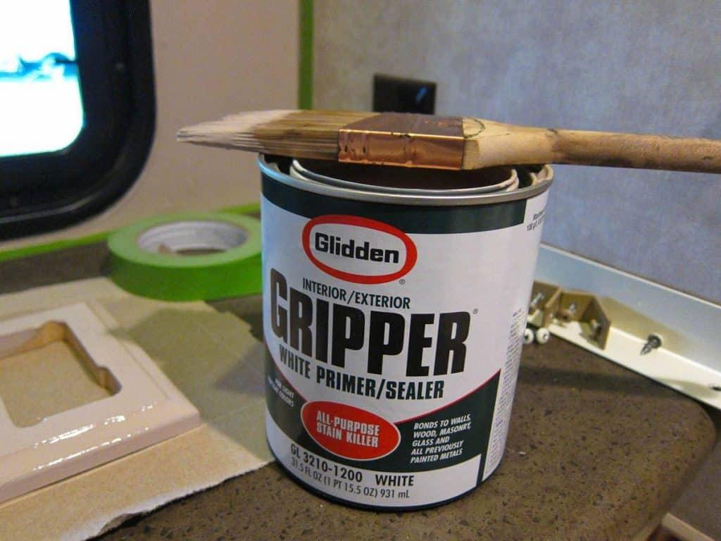 paint RV exterior fiberglass