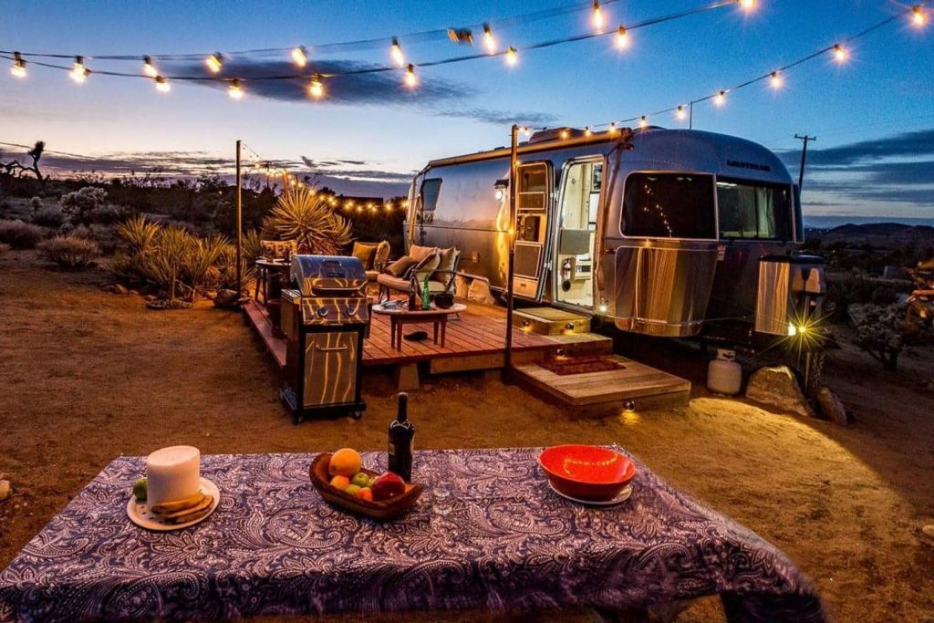rv camper awning lights