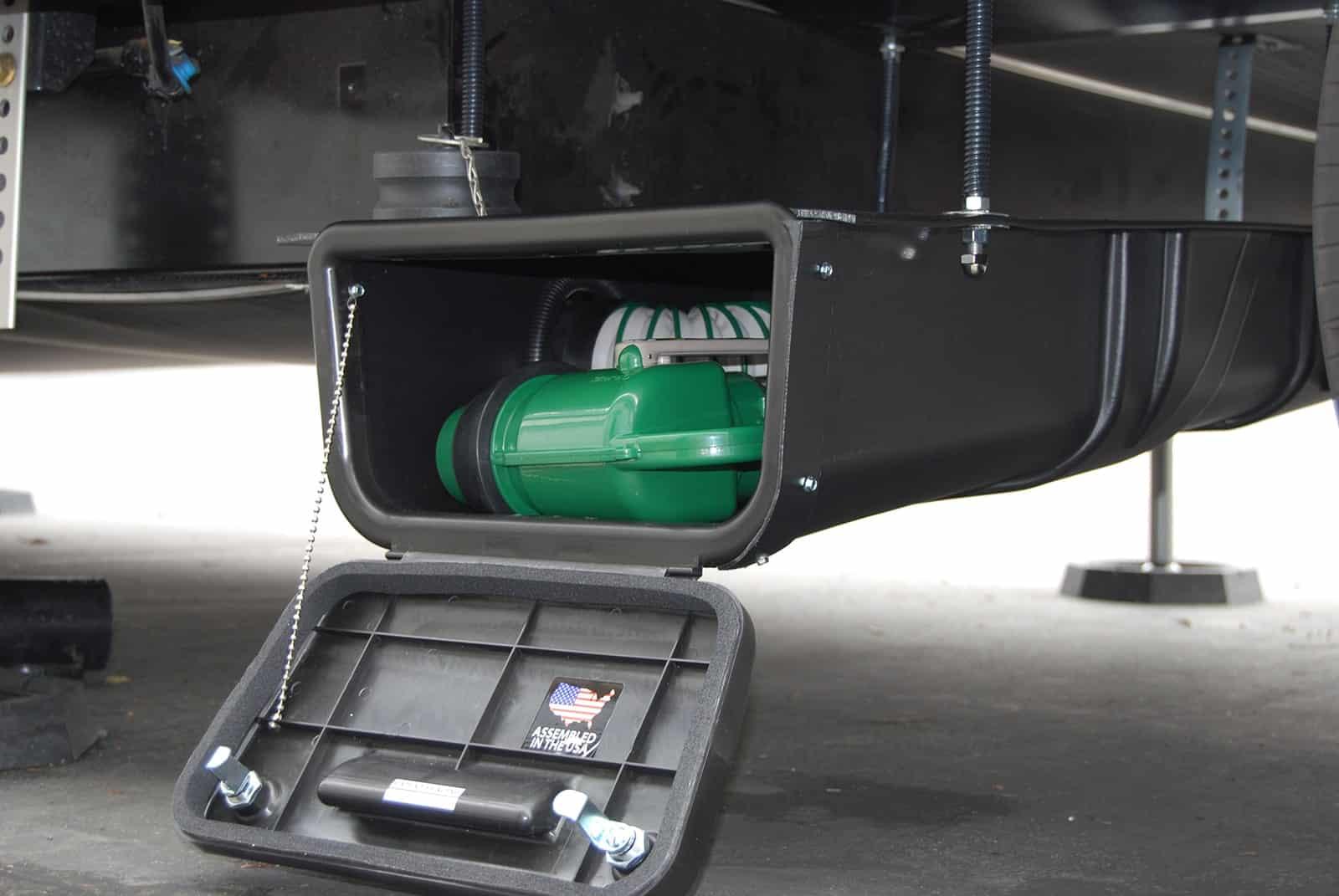 rv sewer hose storage
