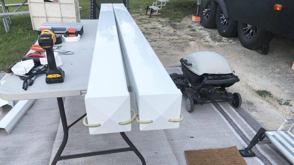 homemade rv sewer hose holder