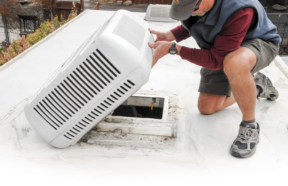 cleaning rv ac