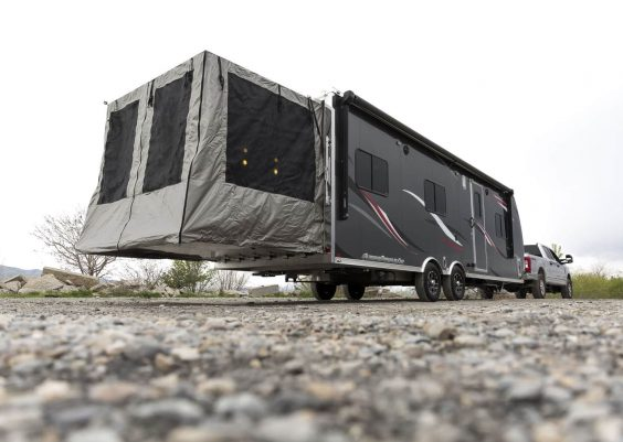 lightweight toy hauler travel trailer