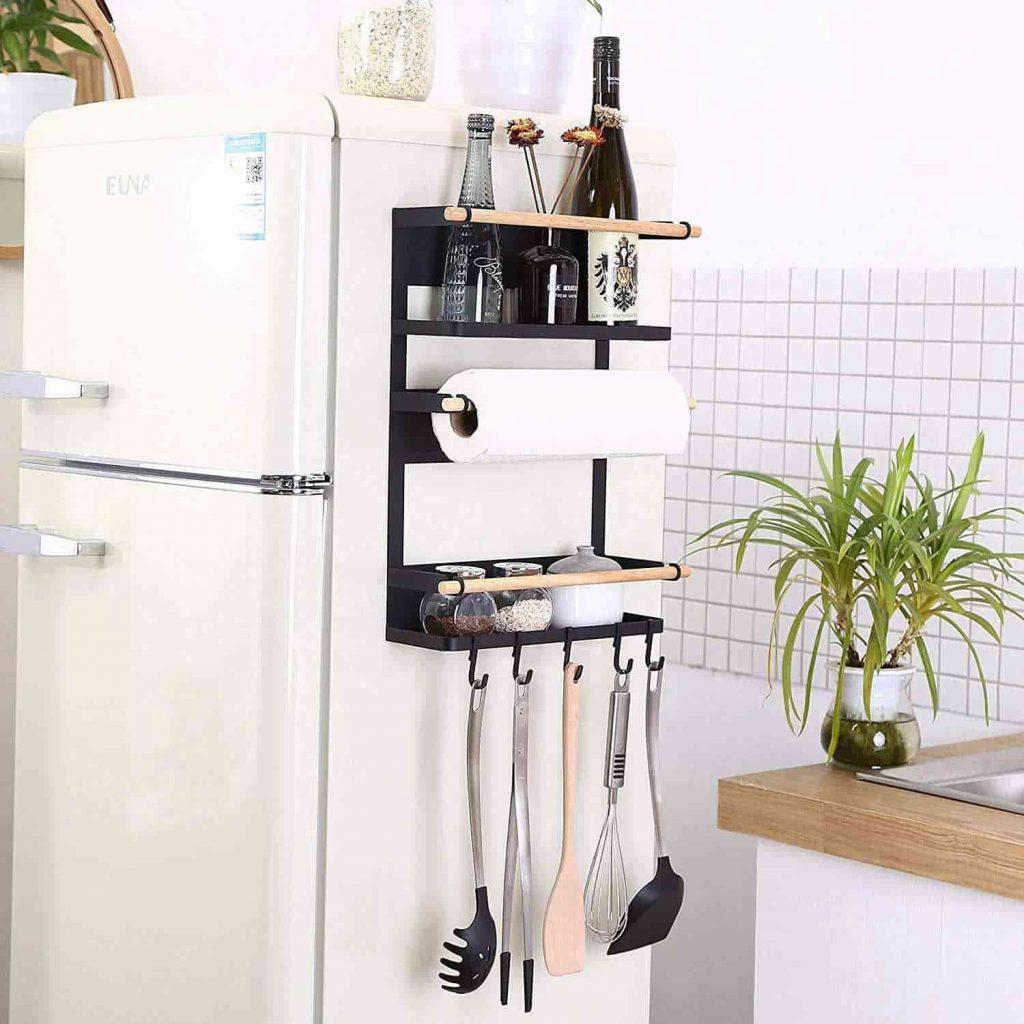 RV magnetic fridge shelf