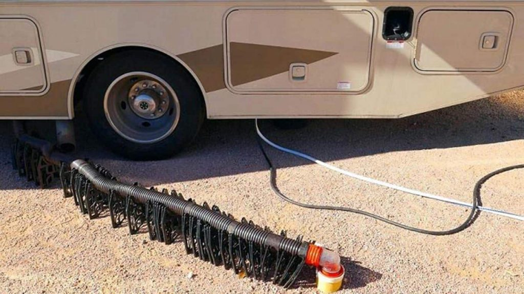 camper sewer hose support.
