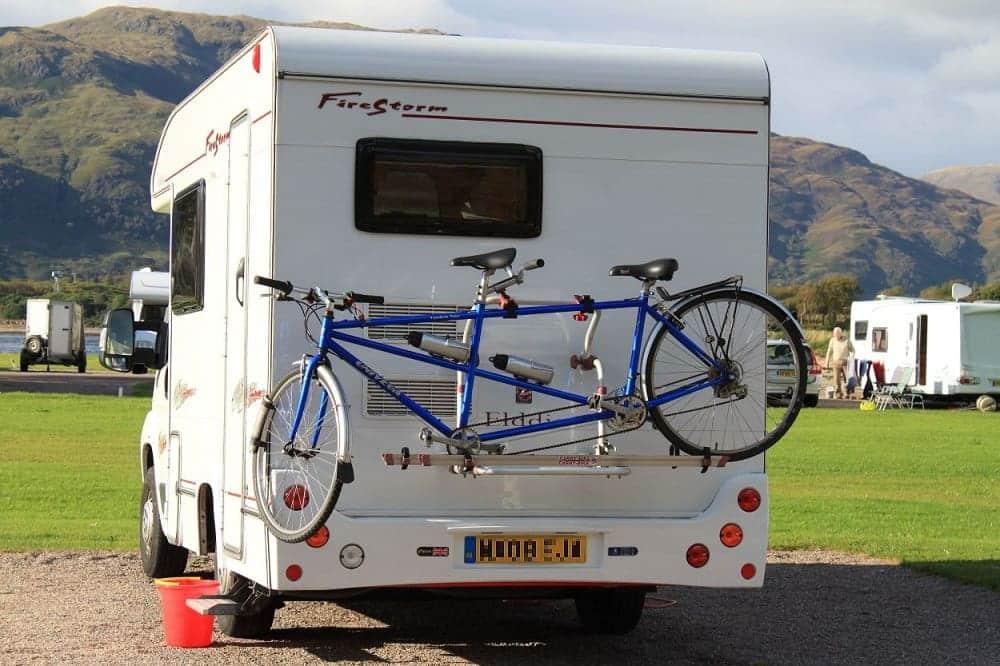 travel trailer bike rack
