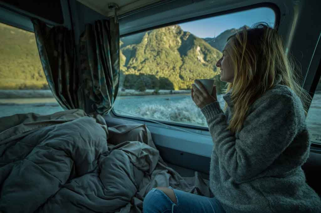 RV living in the winter
