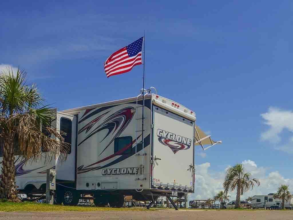 travel trailer flag pole