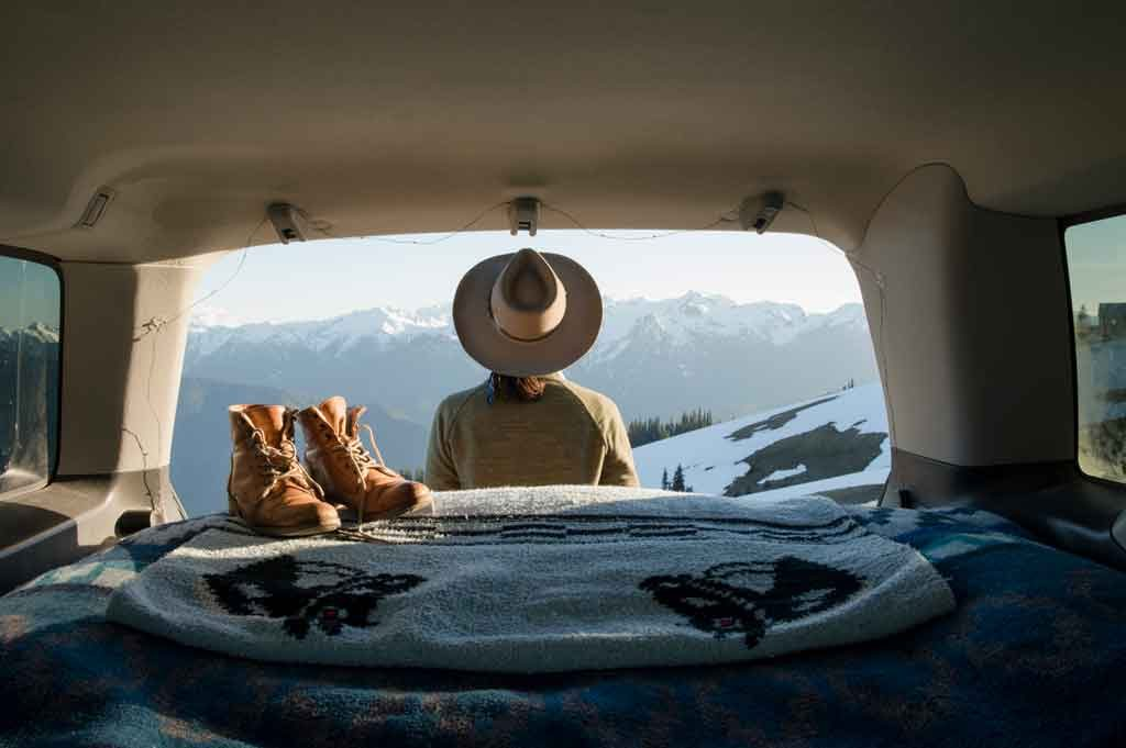 living in a travel trailer during winter