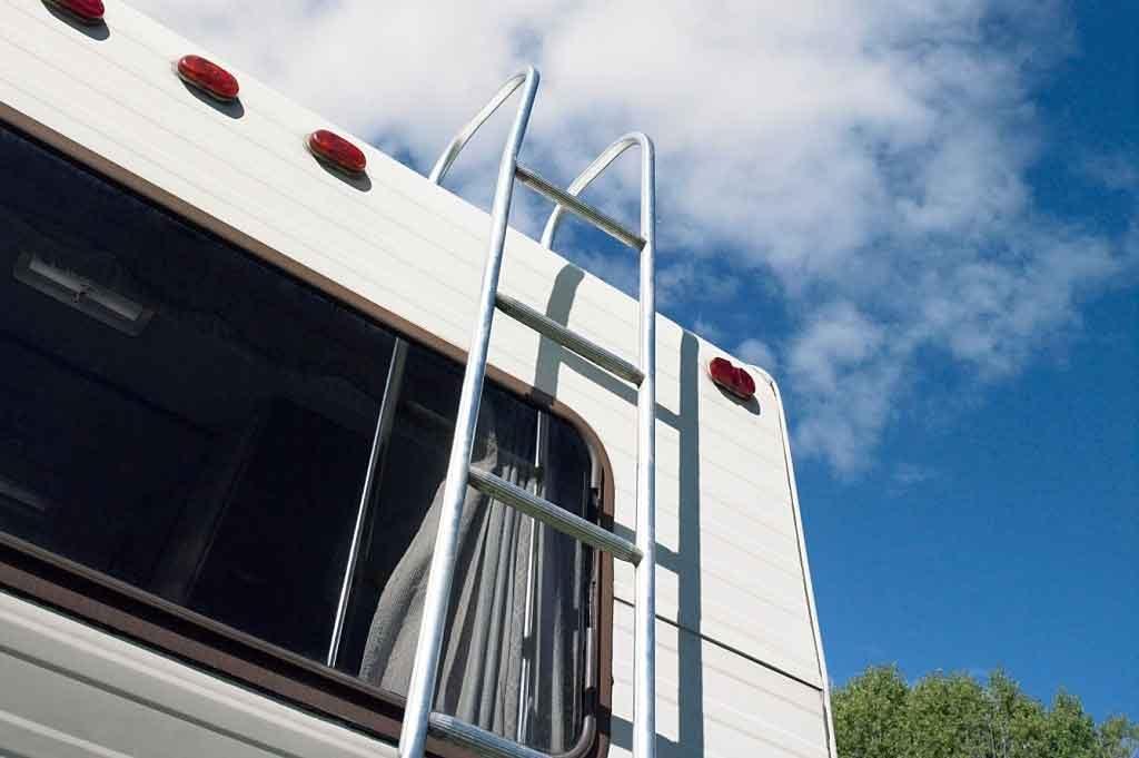 camper exterior ladder
