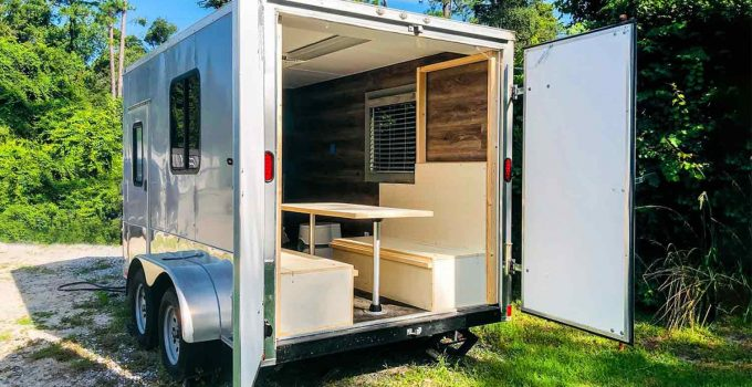 how to turn a cargo trailer into a camper