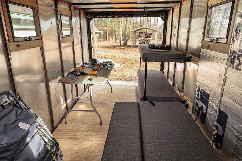 can you make a cargo trailer into a camper