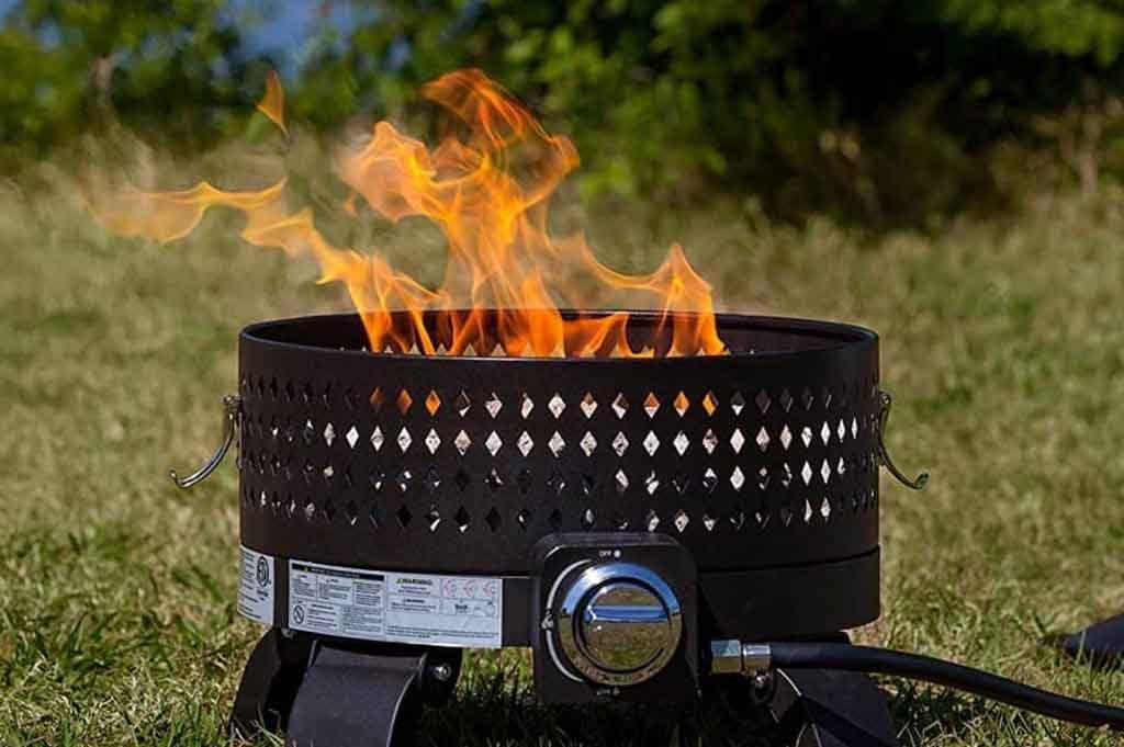 RV upgrades propane fire pit