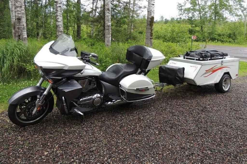 campers for motorcycles to pull