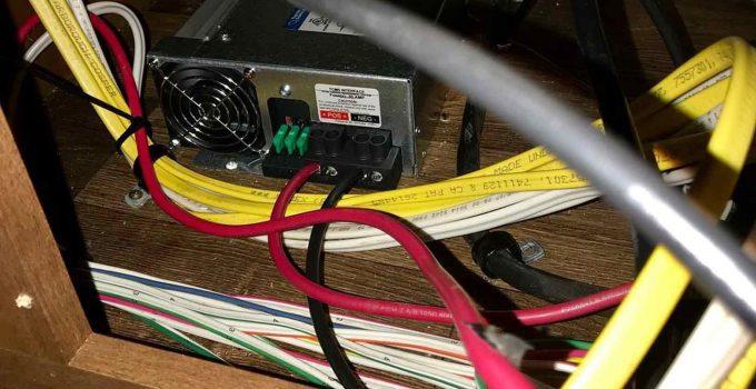 rv converter draining battery