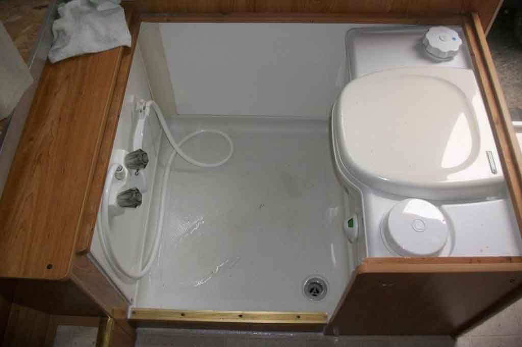 shower toilet combo unit